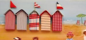 casetas de playa de tela
