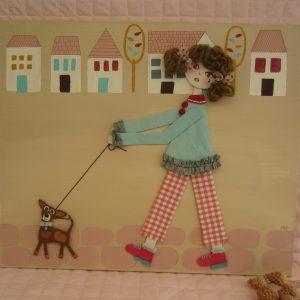 785 niña con perro